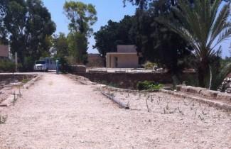Una vecchia rotaia che a Tiro ancora attraversa il sito archeologico