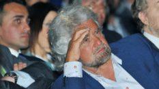 Beppe Grillo a Ivrea (Ansa)
