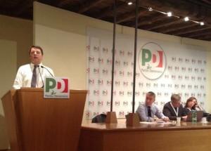 Matteo Renzi parla alla Direzione del Pd