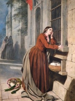 Henry Nelson O'Neil A Mother Depositing Her Child at the Foundling Hospital in Paris 1855