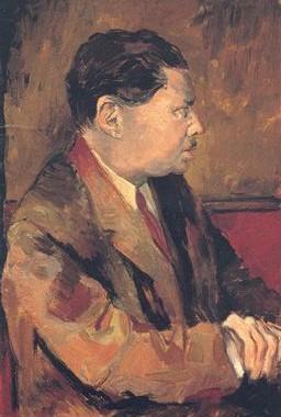 Eugenio Montale in un ritratto di Renato Guttuso, 1939