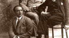 Vincenzo Cardarelli con Massimo Bontemplelli e Alberto Savinio, 1920